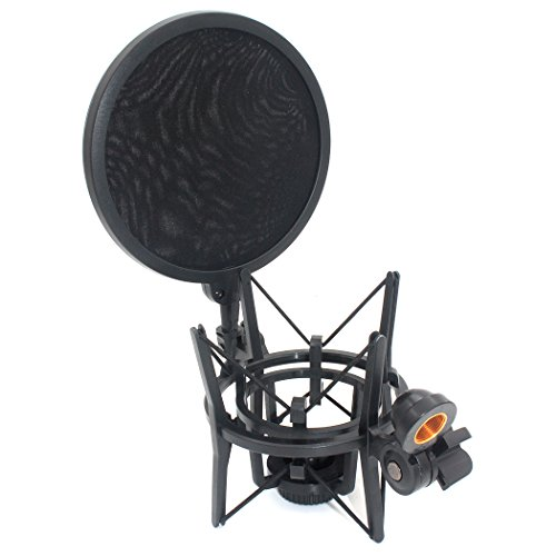 zramor-sh101-integrated-shock-mount-with-pop-filter-for-large-diameter-condenser-microphone-for-mxl-