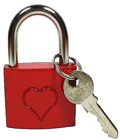 Liebesschloss-Schloss-Vorhngeschloss-Bgelschloss-Rot-1-Stck-LiebesschloMit-Herz