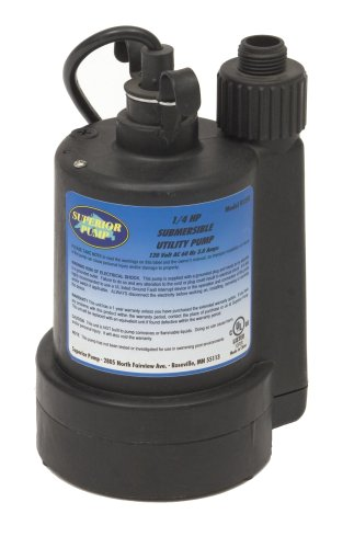 superior pump 91250 1 4 hp thermoplastic submersible utility pump