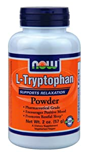 NOW L-Tryptophan Powder 2 Oz ( Multi-Pack)