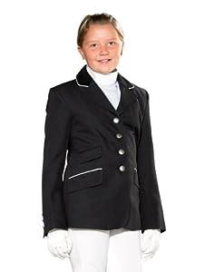 Pfiff - Chaqueta de equitación para niños (con botones) negro negro Talla:152