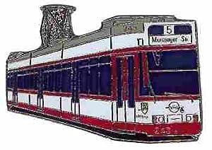 PIN Stadtbahn Freiburg rot/weiß von Euro-Pokale