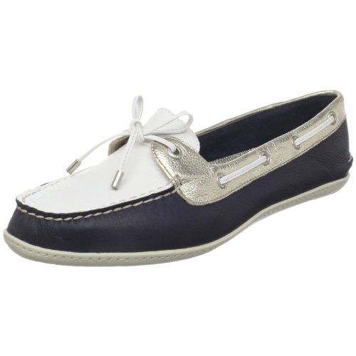 Sperry Top-Sider Women's Montauk Deck Shoes,Navy/Platinum/White,10 M US