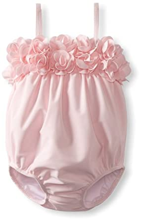 Kate Mack Baby Girls' Blooming Roses Swim Bubble, Pink, 12 Months