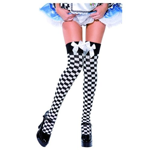 Black and White Checkered Stockings