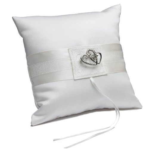 Weddingstar-Classic-Double-Heart-Square-Ring-Pillow-White