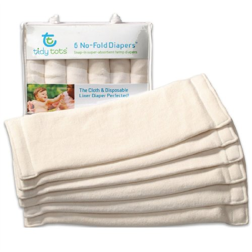 Tidy Tots Organic Hemp Diaper Inserts - No Fold Diaper - 1