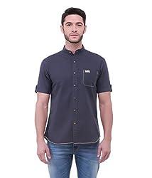 Jogur Dark Blue Color Casual Shirt for Men