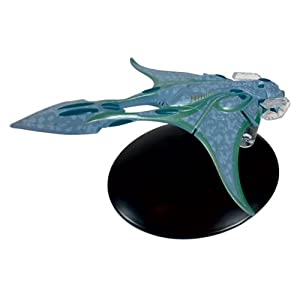 Star Trek Starships Xindi Aquatic Ship Die-Cast Metal Vehicle with Collector Magazine