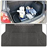 Quality Black Super Heavy Duty Thickest Rubber Protection Boot Mat Liner for Hyundai Santa FE (7 Seater) 2006-2010 - Trim for Secure Fit