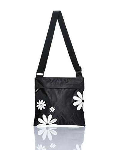 H.Due.O Borsa A Tracolla Hippy Flowers Saffiano Bianco