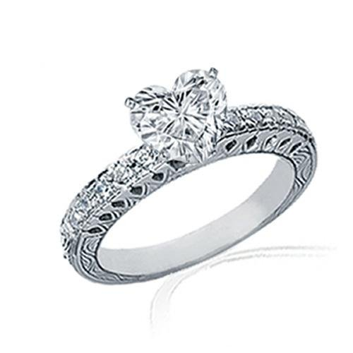 1.25 Ct Heart Shaped Diamond Engagement Ring