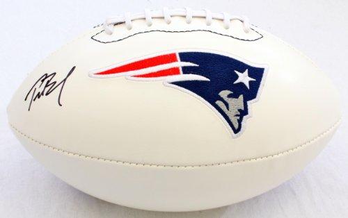 Autographed Tom Brady Logo Football GAI - Autographed Footballs