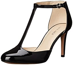 Nine West Women\'s Halinan Synthetic Dress Pump, Black, 7.5 M US