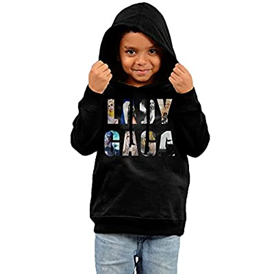 Fashion Kids American Popular Singer Lady Gaga Logo Hoodies Sweatshirt.
