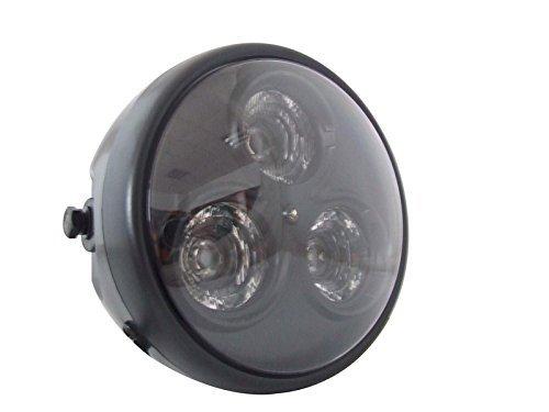 "Universal Motorcycle Motorbike 7"" Matt Black Led Headlight - Very Bright"