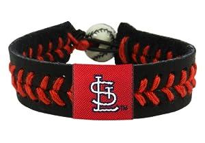 MLB St. Louis Cardinals Black Team Color Baseball Bracelet by GameWear