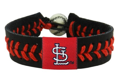 MLB St. Louis Cardinals Black Team Color Baseball Bracelet at Amazon.com