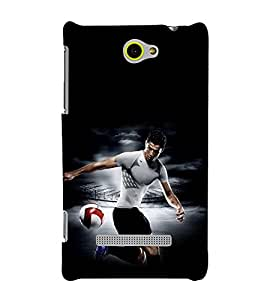 printtech Football Player Back Case Cover for HTC Windows Phone 8S