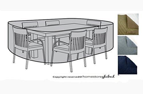 HomeStore Global groß Schutzhülle für Gartenmöbel (L) 220 x (D) 200 x (H) 92cm – Dick und hochwertigen 600D Polyester Canvas, All-Wetter-beständig und anti-Feuchtigkeit – Grau jetzt bestellen