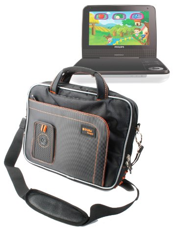 Duragadget Travel-Bag mit Schultergurt f&#252;r Philips PD7002/05 und PD9030/05 (schwarz)