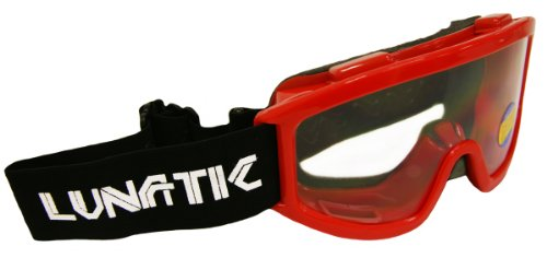 Lunatic, L100YR, YOUTH Goggles - Red - Dirtbike ATV MX - Single Lens - Adjustable Strap