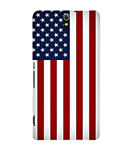 Fuson Premium Back Case Cover Flag With Yellow Background Degined For Sony Xperia C5 Ultra Dual::Sony Xperia C5 E5553 E5506::Sony Xperia C5 Ultra
