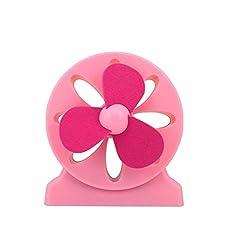 Geekgoodies Rechargeable USB Colorful Flower Desk Fan (Light Pink)