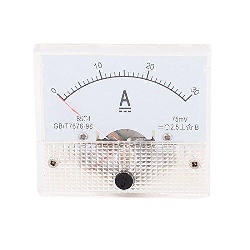 85c1 Pointer Nadel DC 0-30A Stromtester-Panel Analog Ammeter 65mm x 56mm