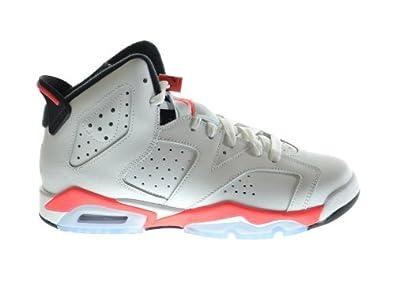 Buy Air Jordan 6 Retro (BG) Big Kids Basketball Shoes White Infrared-Black 384665-123 by Jordan