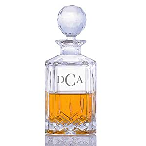 Personalized crystalize cut crystal engraved whiskey decanter liquor