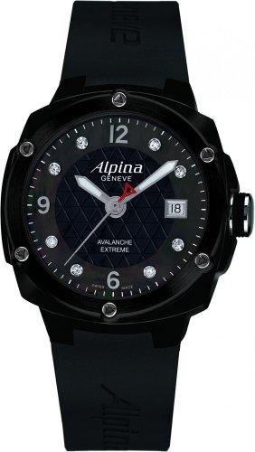 Alpina Geneve Avalance Extreme Ceramic AL-240MPBD3FBAEC6 Reloj para mujeres con diamantes genuinos