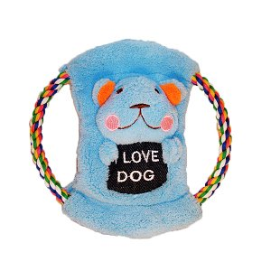 How's Your Dog 3-in-1 Plush Tug Toy Roped Frisbee – Bear