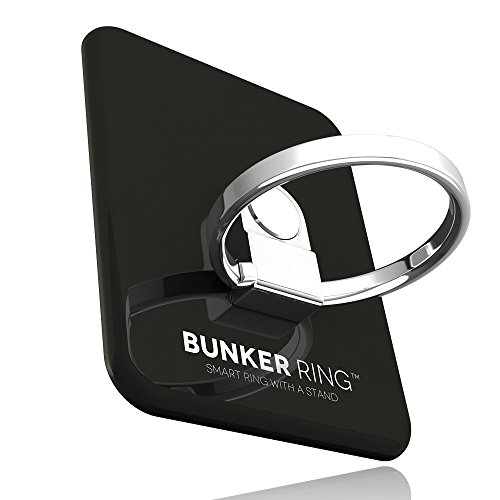 BUNKER RING 3 (全5色) バンカーリング iPhone/iPad/iPod/Galaxy/Xperia/スマートフォン・タブレットPCを指1本で保持・落下防止・スタンド機能(ブラック)
