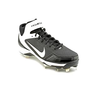 Mens Nike Air Huarache 2kFresh Metal Baseball Cleat Black White Size 9 by Nike