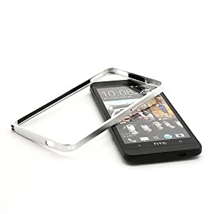 Lovemei Backless Metal Frame Bumper Skin Case Cover for HTC One M7 (Single Sim) 801e - Silver