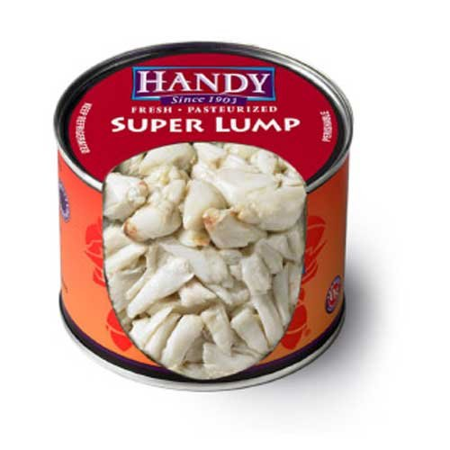 Handy Pelagicus Pasteurized Super Lump Crab Meat, 1 Pound -- 6 per case. (Pasteurized Crab Meat compare prices)