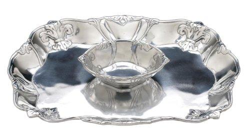 Arthur Court Fleur-De-Lis Chip and Dip Tray, 15-Inch