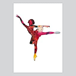 Ballet Watercolor Art Print, 11 x 14 inches