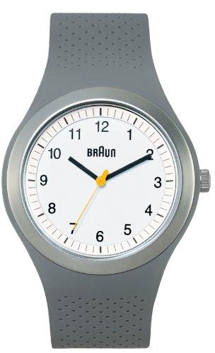Braun - 66539 - Montre Mixte - Quartz - Analogique - Bracelet Silicone Gris