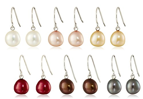 sterling-silver-set-of-six-multicolored-7-8mm-freshwater-cultured-pearl-dangle-earrings
