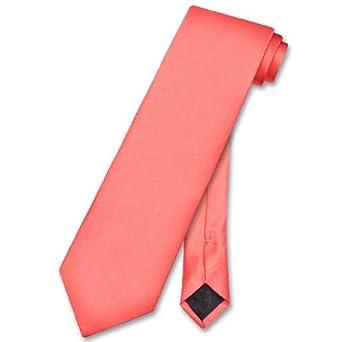 vesuvio napoli necktie solid coral pink color s neck