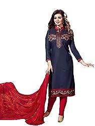 khodiyar fashion blue cotton salwar suit