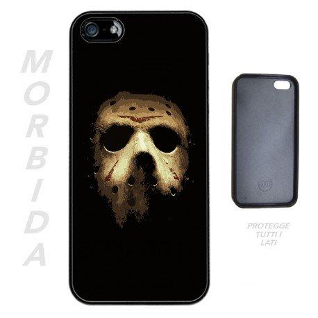 Cover per iPhone 5-5S Morbida Jason Mask Maschera Introvabile + OMAGGIO