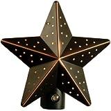 AmerTac 75050VB Aged-Bronze Tin Star Auto-On/Off Nite Lite