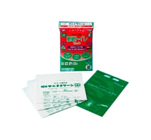 サニタクリーン 防災避難用品 簡単トイレセット (密閉式収納袋付)