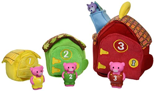 Melissa & Doug Deluxe Three Little Pigs Play Set Soft Baby Toy - 1