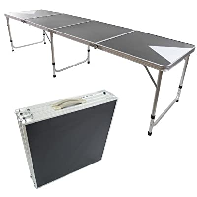 New Beer Pong Table 8' Aluminum Portable Adjustable Folding Indoor Outdoor Tailgate Drinking Party Game #3