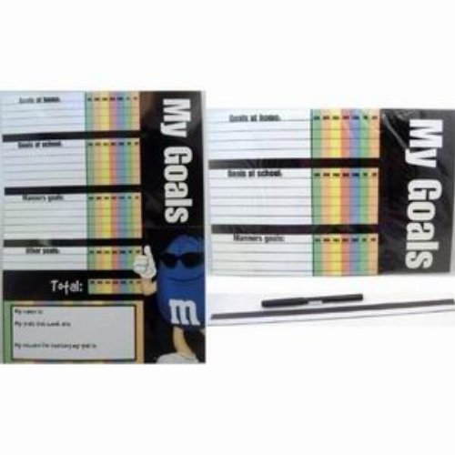 Kids M&M Dry Erase Goal Chart With Marker (72 Pack)