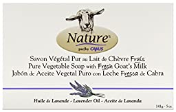 Nature by Canus Goat\'s Milk soap, Lavender, 5 Ounce